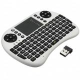 Tastatura Mini 2.4GHz USB Wireless 3 in 1 Keyboard  Touchpad (alba) PC/Android