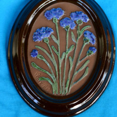 APLICA / TABLU IN RELIEF, CERAMICA, HAND MADE - SEMNAT INGEGARD, GABRIEL SUEDIA - Arta Ceramica