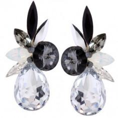 Celest 4cm s cu cristale swarovski - Cercei Swarovski