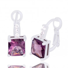 Cercei fashion violet
