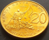 Moneda Comemorativa 20 Lire - SAN MARINO, anul 1992  *cod 1495  a.UNC - RARA, Europa