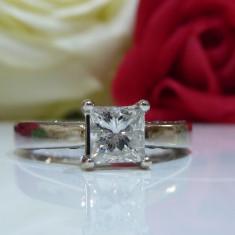 Inel logodna aur 14k si diamante 1.26ct - Inel de logodna