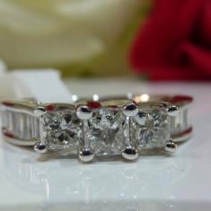 Inel logodna aur 14k si diamante 1.20ct - Inel de logodna