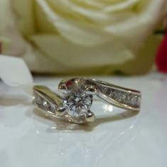 Inel logodna aur 14k si diamante 0.78ct - Inel de logodna