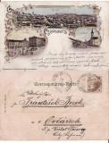 Cernauti , Bucovina - litografie 1897, Circulata, Printata