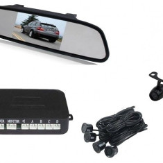 "Senzori parcare + CAMERA Marsarier cu display in oglinda 4,3"" AL-080817-10"