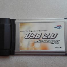 ATEN PU-212 Cardbus PC Port Type II USB 2.0 laptop - Adaptor laptop