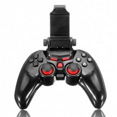 Controller T1-465 Wireless Android/IOS/PC bluetooth cu suport pentru telefon pana in 6 inch, negru