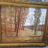 """Tablou vechi ulei - Pictura veche """"Peisaj in padure """" - Tablou autor neidentificat, Scene gen, Cerneala, Altul"""