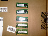 Lot 5 x memorii laptop ddr 2 de 512 m, DDR2, 512 MB