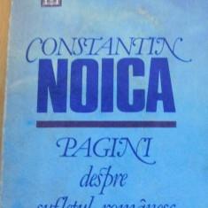 Pagini despre sufletul romanesc de Constantin Noica