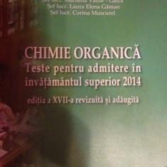 Chimie Organica - Teste Admitere - Teste admitere facultate