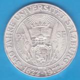 (1) MONEDA DIN ARGINT AUSTRIA - 50 SCHILLING 1972, 350 ANI UNIVERSITATEA SALZBURG, Europa