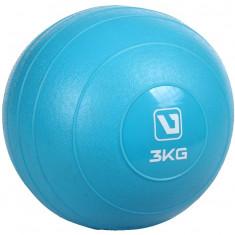 Mingi cu greutati albastru 3 kg - Minge Fitness LiveUp, Minge medicinala