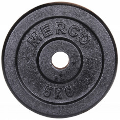Disc gantera Metal, 31mm 5 kg Merco, Discuri greutati