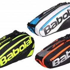 Pure Line x6 2017 Racket Bag negru-galben - Geanta tenis Babolat