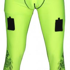 Pantaloni Comp Long Hochei pe gheata galben M - Echipament hochei