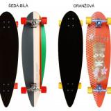 Longboard Tropical Funk gri-alb - Skateboard