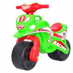 Motocicleta de curse Doloni cu sunete si lumini, verde cu rosu
