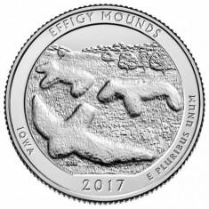 SUA/USA 2017 P Mint IOWA Effigy Mounds National Park Quarter, America de Nord