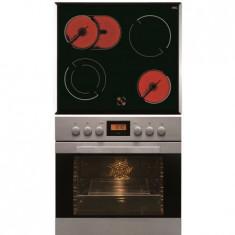 Set cuptor si plita Hansa BCCI66136030, 8 functii, Clasa A, 66 l, Grill
