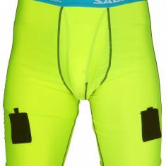 Pantaloni Comp Short Hochei pe gheata galben XL - Echipament hochei