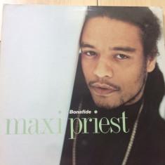 Maxi Priest Bonafide album disc vinyl lp muzica synth pop reggae hip hop 1990 - Muzica Pop virgin records, VINIL