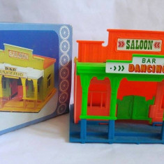 Bar pt figurine Cowboy indieni, vintage anii 60 Köhler Germany Wild West Saloon