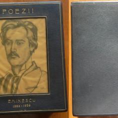 Eminescu , Poezii , 1939 , editie omagiala , ilustratii Ressu , Steriadi , piele