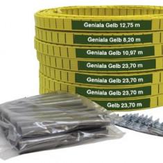 Set linii plastic teren tenis Geniala 4cm sau 5cm galben galben 4 cm