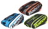 Pure Line x12 2017 Racket Bag negru-rosu, Babolat