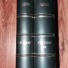 C. GANE - P. P. CARP SI LOCUL SAU IN ISTORIA POLITICA A TARII  I-II