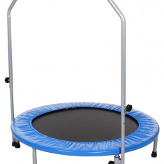 Foldable Trampoline with Bar Diameter 100cm 100 cm