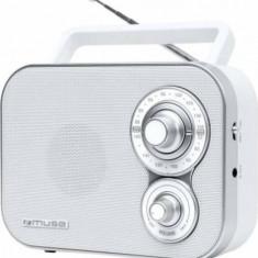 Radio portabil MUSE M-51 Alb - Aparat radio