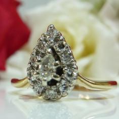 Inel logodna aur 14k si diamante 0.5ct - Inel de logodna