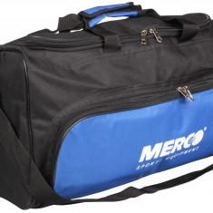 Geanta sport 103 55x25x21cm negru-albastru, Merco