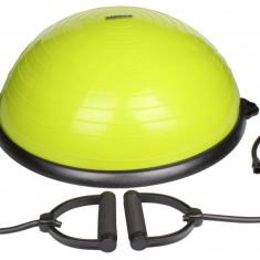 Minge echilibru cu manere BBT lime - Minge Fitness, Bosu