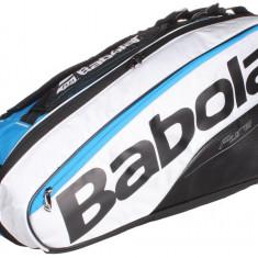 Pure Line x6 2017 Racket Bag albastru-alb - Geanta tenis Babolat