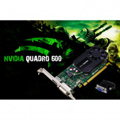 Placa video PC NVIDIAI-E NVDIA Quadro 600 1GB DDR3 128BIT DVI RACIRE ACTIVA, PCI Express, nVidia