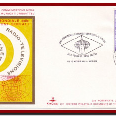 Vatican 1969 - Ziua Mondiala a Comunicatiilor Sociale, plic cu stampila speciala