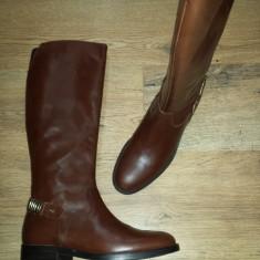 Superbe cizme dama noi piele integral foarte comode Sz.37 ! - Cizma dama, Culoare: Coniac, Piele naturala