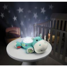 Jucarie bebelusi Proiector hipopotam Fisher Price