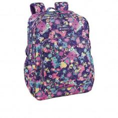 Ghiozdan floricele multicolore, fete liceu si gimnaziu, 44 cm, Gabol, Fata