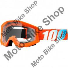 MBS Ochelari motocross 100% Strata Solid, portocaliu, sticla clara, Cod Produs: 26011984PE
