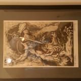 M Chirnoaga- gravura Victoria - Pictor roman, Abstract, Cerneala