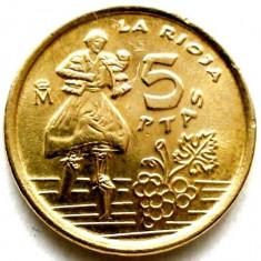 SPANIA, 5 PESETAS 1996, Europa, Bronz