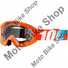MBS Ochelari motocross copii 100% Strata Solid, portocaliu, sticla clara, Cod Produs: 26012042PE