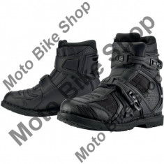 MBS Ghete moto Icon Field Armor 2, negru, 44, Cod Produs: 34030567PE