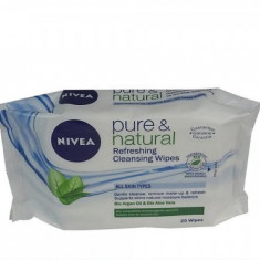 NIVEA SERVETELE UMEDE DEMACHIANTE PURE NATURAL 25BUC