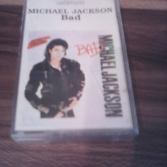 CASETA AUDIO MICHAEL JACKSON-BAD - Muzica Pop, Casete audio